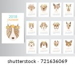 collection of portrait dog... | Shutterstock .eps vector #721636069
