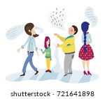 people talk together without... | Shutterstock .eps vector #721641898