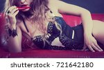 sensual seductive attractive...   Shutterstock . vector #721642180