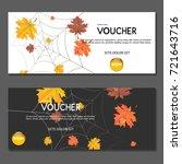 gift voucher. autumn yellow... | Shutterstock .eps vector #721643716