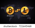bitcoin to litecoin currency... | Shutterstock .eps vector #721645468
