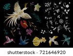 swallow  goldfish  hummingbird  ... | Shutterstock .eps vector #721646920