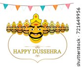 happy dussehra | Shutterstock .eps vector #721649956