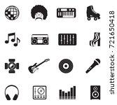 disco icons. black flat design. ... | Shutterstock .eps vector #721650418
