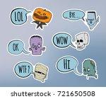 halloween sticker pack. zombie  ... | Shutterstock .eps vector #721650508