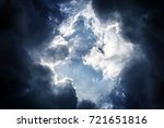 light in the dark and dramatic... | Shutterstock . vector #721651816