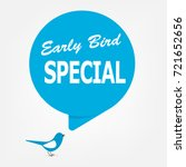 early bird special discount... | Shutterstock .eps vector #721652656
