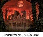 3d Rendering Halloween Concept...