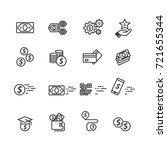 money set icons  vector | Shutterstock .eps vector #721655344