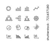 chart and diagram icons set ... | Shutterstock .eps vector #721657180