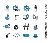 simple engineer icons set vector | Shutterstock .eps vector #721657420