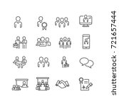 business and person icons set... | Shutterstock .eps vector #721657444