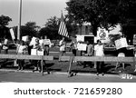 Small photo of Chicago Illinois, USA, 2nd August, 1986 Demonstrators outside and across street from Operation Push headquarters protesting against the visit by Nicaraguan President Daniel Ortega.