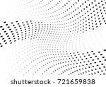 abstract halftone wave dotted... | Shutterstock .eps vector #721659838