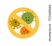 stop microbes cartoon vector... | Shutterstock .eps vector #721660666