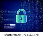 abstract high tech circuit...   Shutterstock .eps vector #721663678