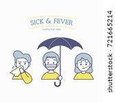 people getting sick when season ... | Shutterstock .eps vector #721665214