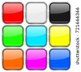 colored set of square buttons...   Shutterstock .eps vector #721666366