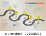 business road map concepts... | Shutterstock .eps vector #721668238