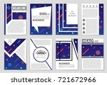 abstract vector layout... | Shutterstock .eps vector #721672966