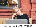 smiling business woman looking... | Shutterstock . vector #721674868