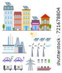 green city infographic set... | Shutterstock . vector #721678804