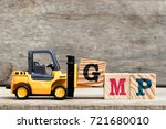 yellow plastic forklift hold... | Shutterstock . vector #721680010