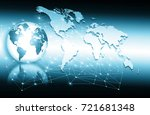 best internet concept of global ... | Shutterstock . vector #721681348