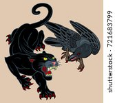 the raven and the black mouth... | Shutterstock .eps vector #721683799
