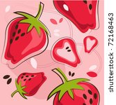 vector pattern of strawberry | Shutterstock .eps vector #72168463
