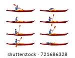 man in kayak set 01 | Shutterstock .eps vector #721686328