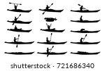 man in kayak silhouette set | Shutterstock .eps vector #721686340