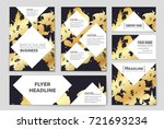 abstract vector layout... | Shutterstock .eps vector #721693234
