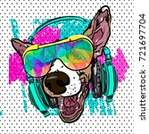 colorful vector poster with dog ...   Shutterstock .eps vector #721697704