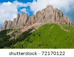 beautiful mountain landscape in ... | Shutterstock . vector #72170122