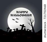 halloween night background in...   Shutterstock .eps vector #721702468