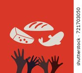 stop hunger  malnutrition or...   Shutterstock .eps vector #721703050