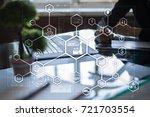 industry 4.0 concept  smart... | Shutterstock . vector #721703554