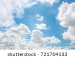 soft clouds and blue sky ... | Shutterstock . vector #721704133
