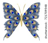 beautiful butterfly peacock... | Shutterstock .eps vector #721709548