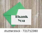 thank you message  an embossed... | Shutterstock . vector #721712380