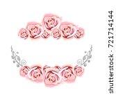 rose flower beautiful border...   Shutterstock . vector #721714144