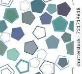 seamless geometric conceptual...   Shutterstock .eps vector #721714618