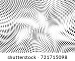 abstract halftone wave dotted... | Shutterstock .eps vector #721715098