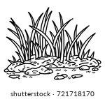 grass   cartoon vector and... | Shutterstock .eps vector #721718170