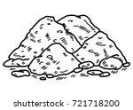 soil   cartoon vector and... | Shutterstock .eps vector #721718200