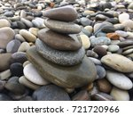 pebbles of the beach photo... | Shutterstock . vector #721720966