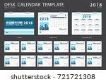 desk calendar 2018 template.... | Shutterstock .eps vector #721721308
