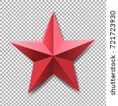 red star gradient mesh  vector... | Shutterstock .eps vector #721723930