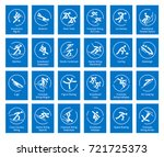 winter sports icons set  vector ...